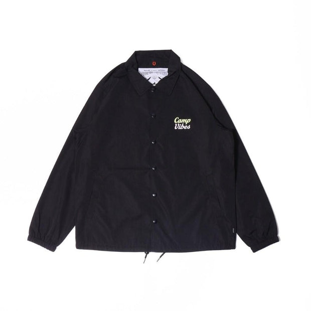 Camp Vibes Coach Jacket-Black