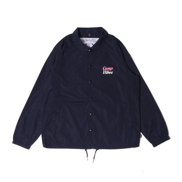 Camp Vibes Coach Jacket-Navy
