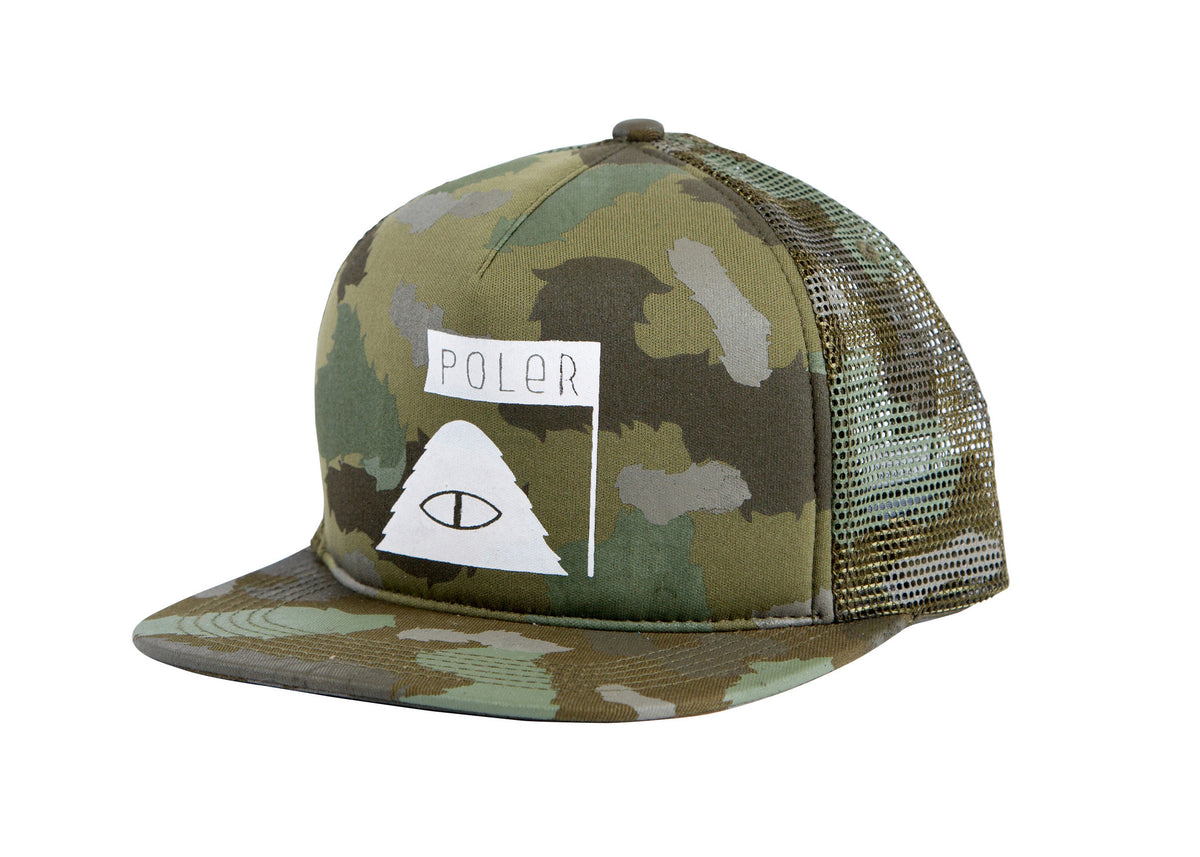 Summit Mesh Trucker-Furry Green Camo