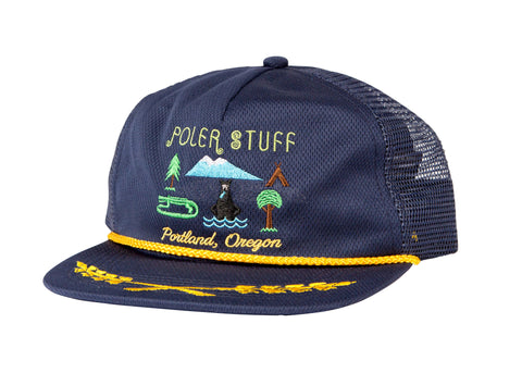 Tourist Trap Mesh Trucker-Navy