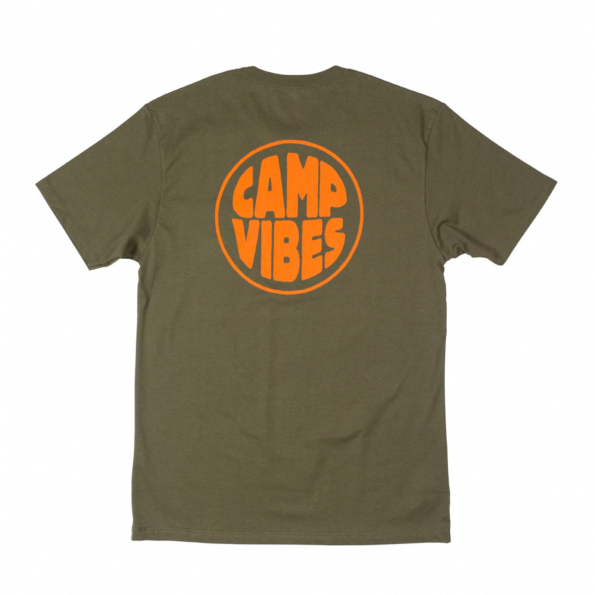 Pop Top Pocket Tee-Olive