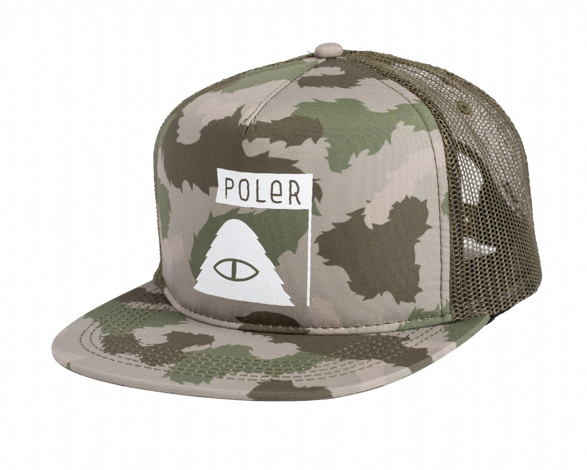Summit Trucker-Green Furry Camo