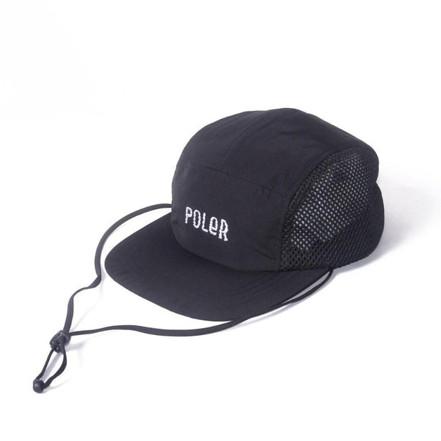 Furry Font 2way Drawcord Mesh Cap-Black