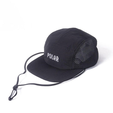 Poler Furry Font 2way Drawcord Mesh Cap Black