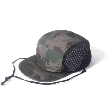 Poler Furry Font 2way Drawcord Mesh Cap Olive Furry Camo