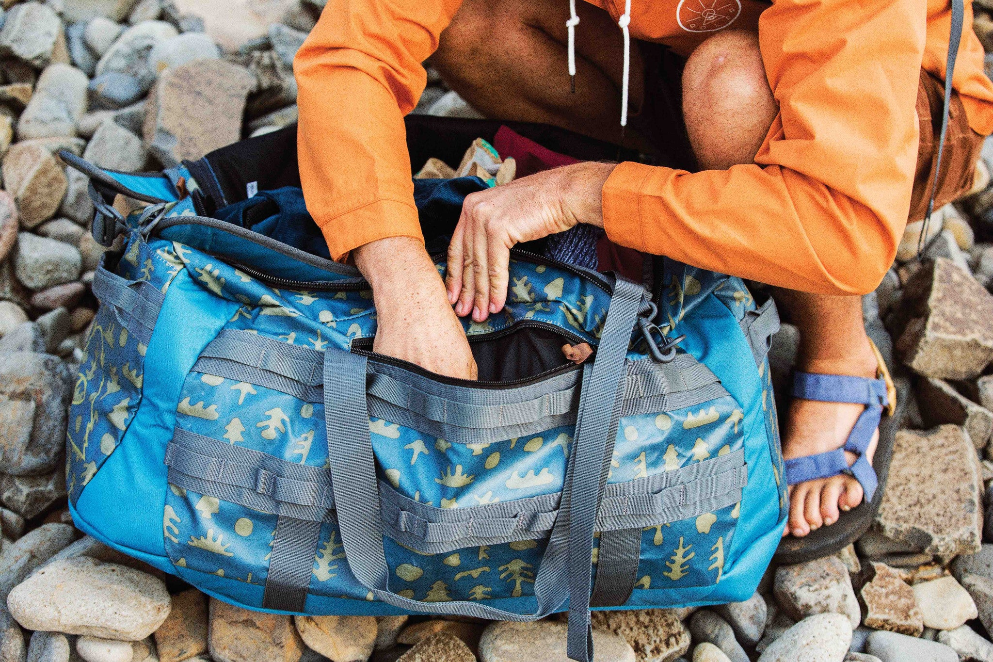 Duffel 70L - Ocean Mushy Trees - High & Dry Collection