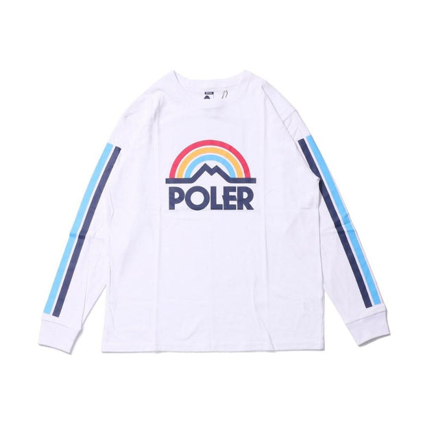 Mountain Rainbow Long Sleeve Tee-White