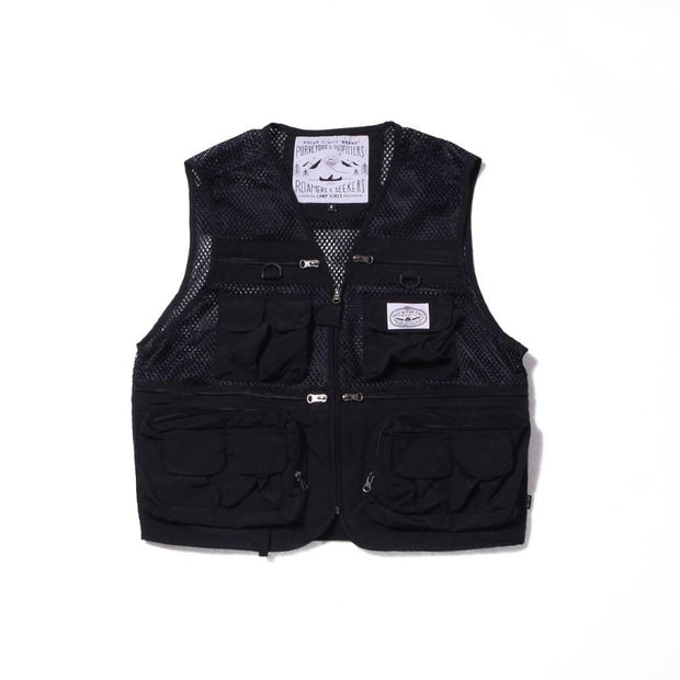 Multi Pocket Vest-Black