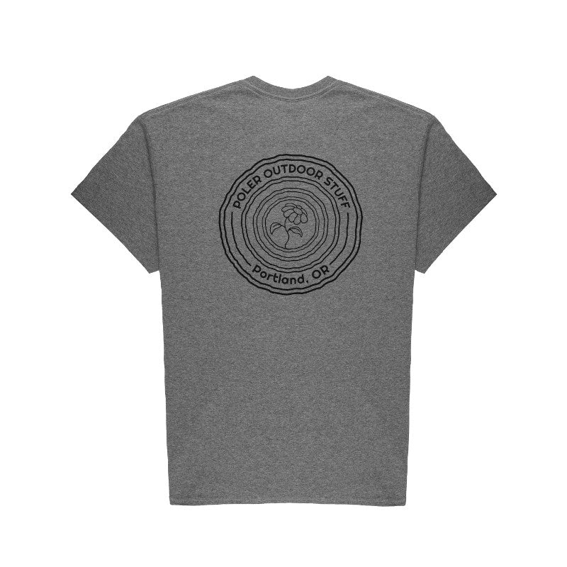 Flower Power Tee-Graphite Heather