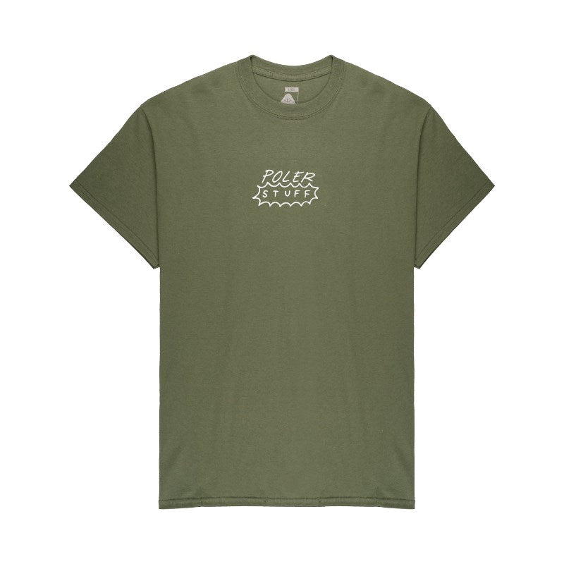 Flower Power Tee-Military Green