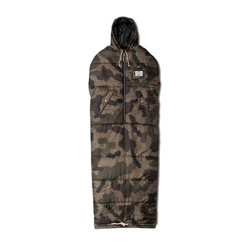 Poler Reversible Napsack Olive Furry Camo and Black