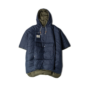 Poler Reversible Poncho Navy and Olive