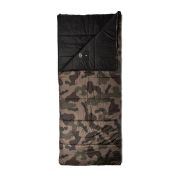 Poler Reversible Sleeping Sack Olive Furry Camo and Black