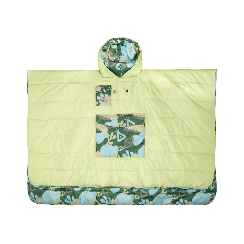 Reversible Poncho - Coral Reef Green