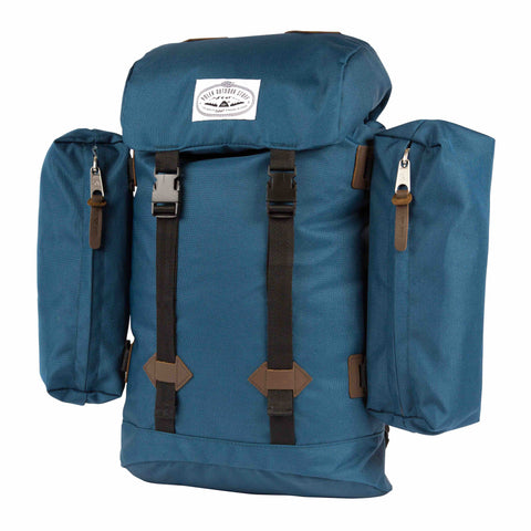 Retro Rucksack - Blue Steel