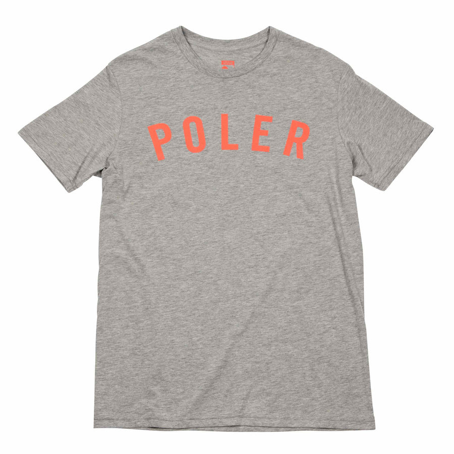 MENS TEE STATE - HEATHER GREY (Orange Poler Print)