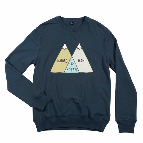 MENS CREW NECK VENN - BLUE STEEL