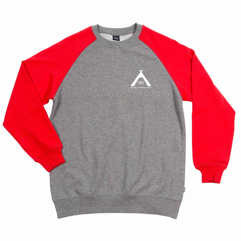 WOMENS CREWNECK TENTED - HEATHER GREY