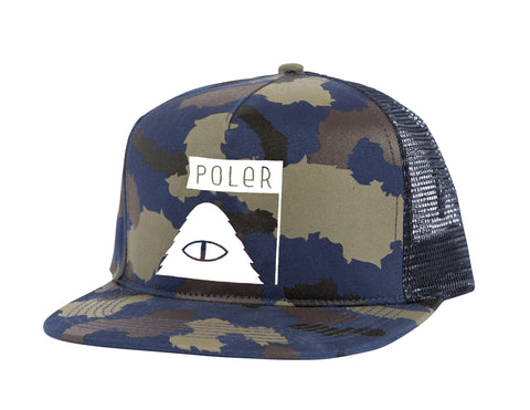 Summit Mesh Trucker - Blue Steel Camo