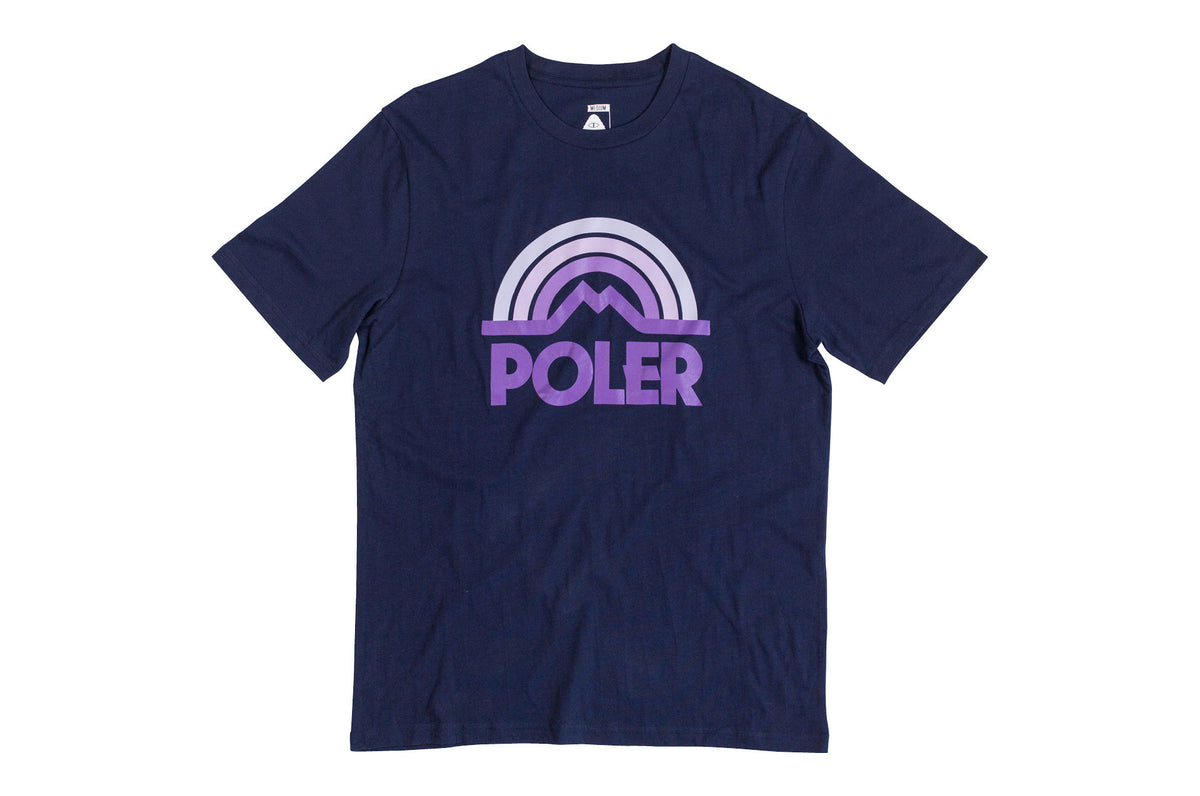 Mountain Rainbow Tee-Navy
