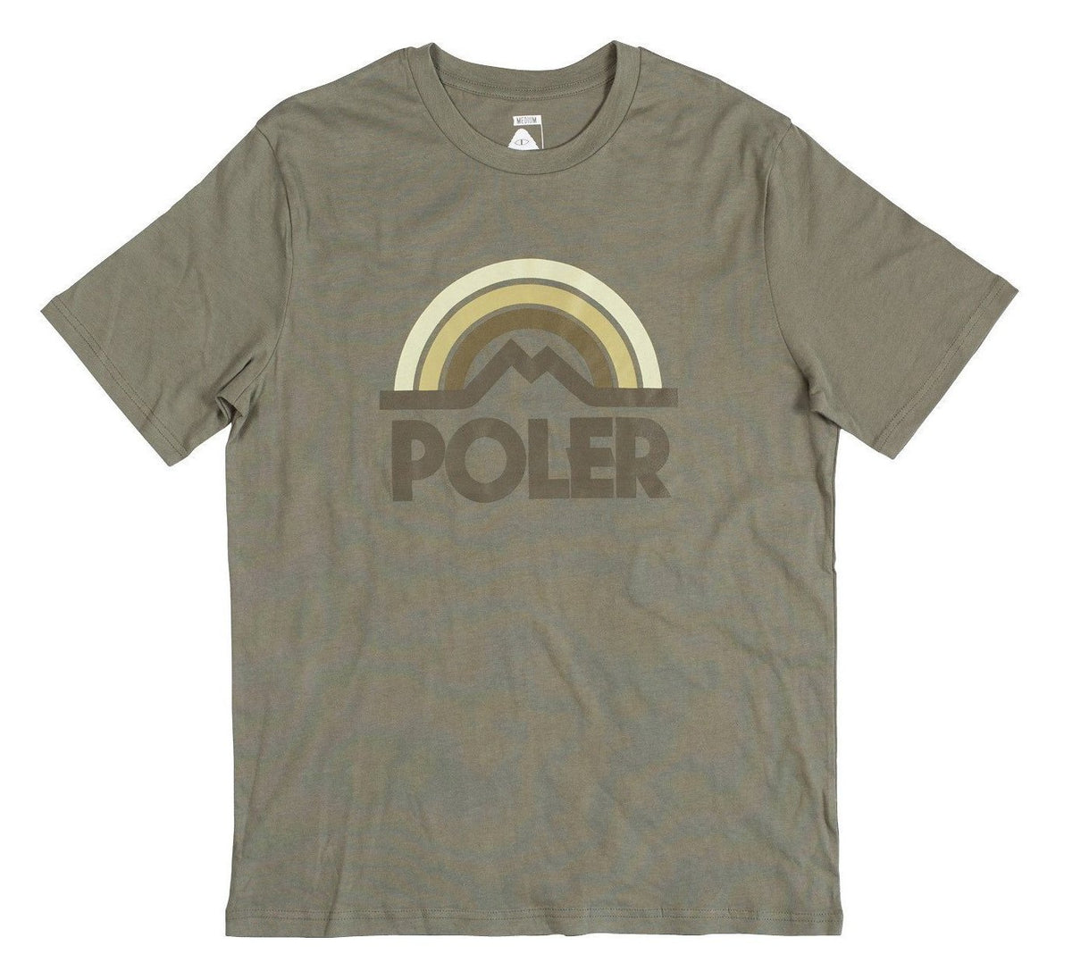 Mountain Rainbow Tee-Olive