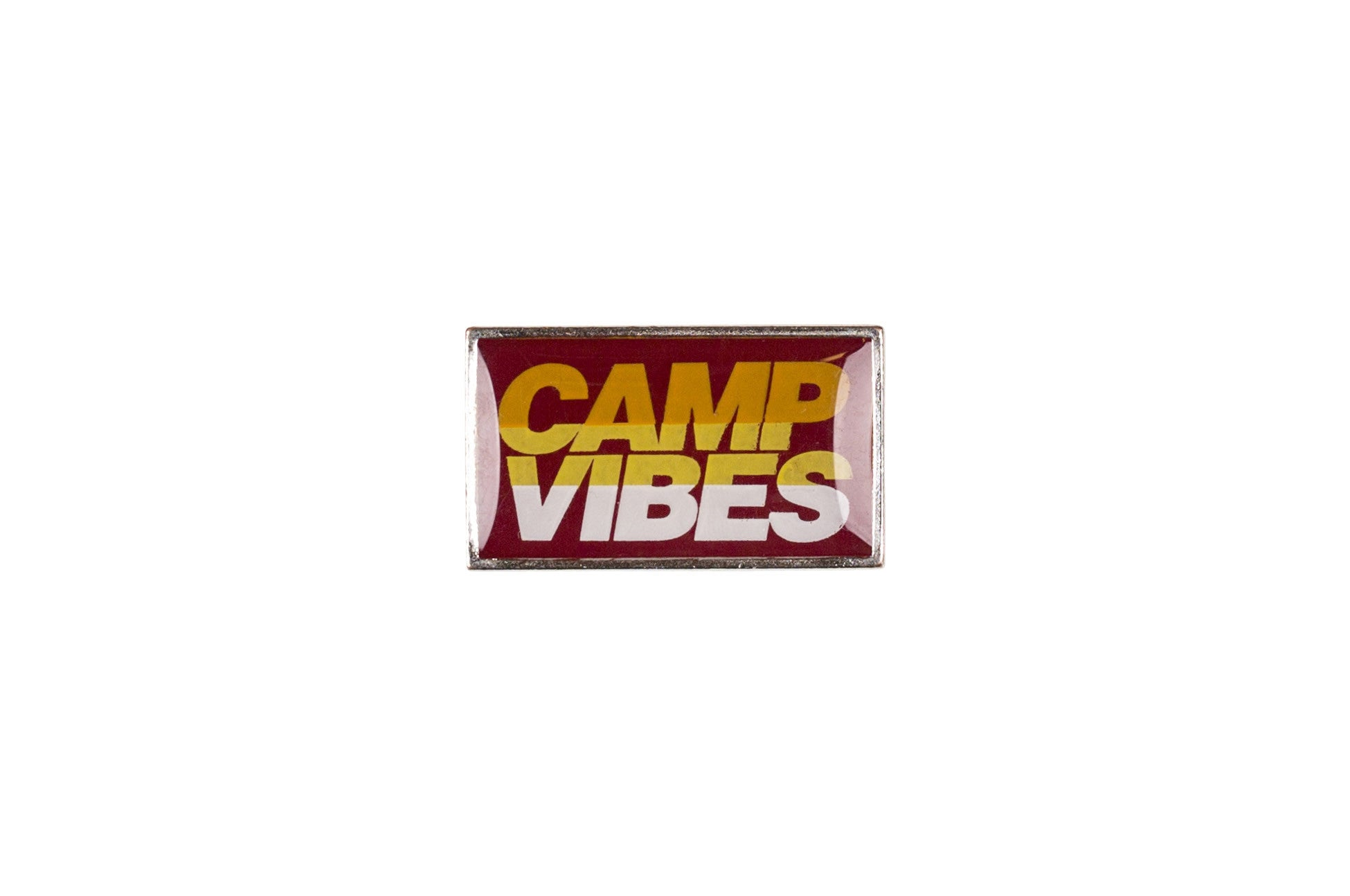 Camp Vibes Pin-Red