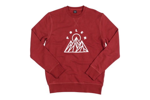 Mountains Crew-Mud Red