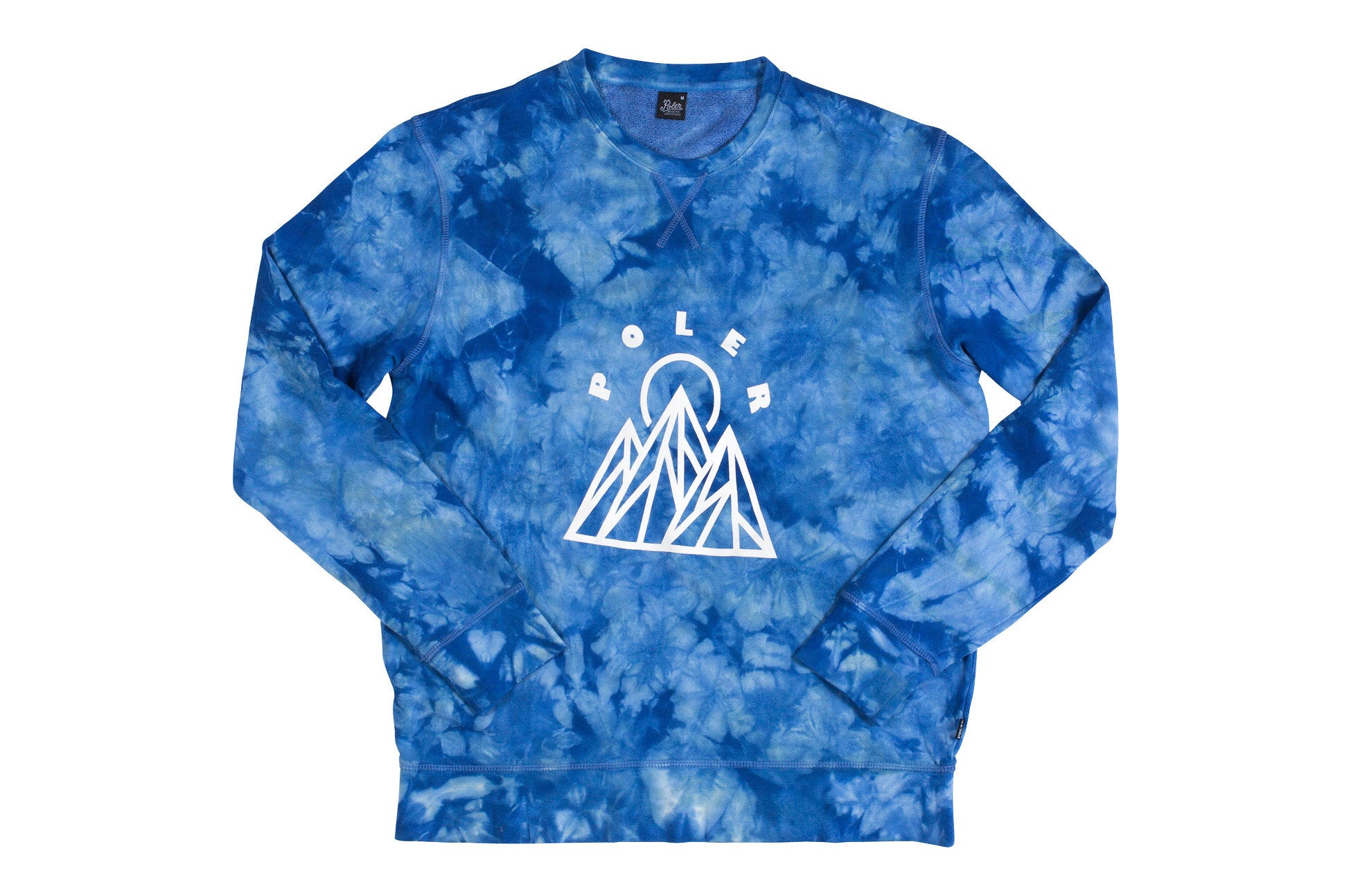 Mountains Crew-Tie Dye Blue