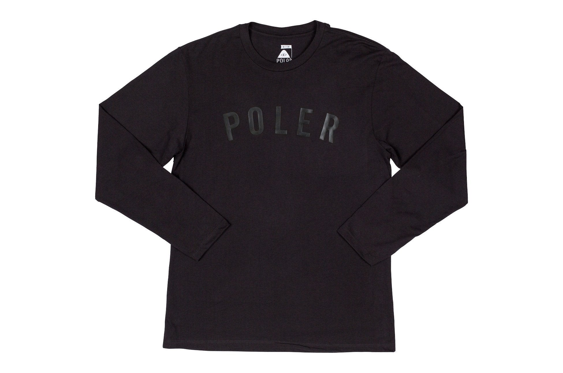 Black/Black State Long Sleeve Tee-Black