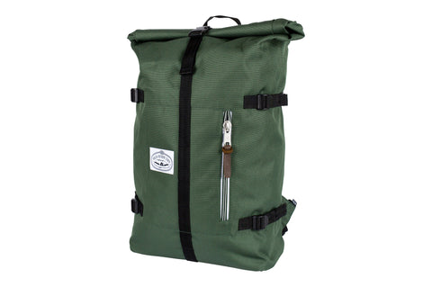 Classic Rolltop-Leaf Green & Leather