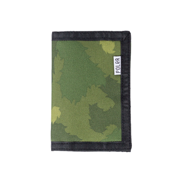 Poler Tri-Fold Wallet Green Furry Camo