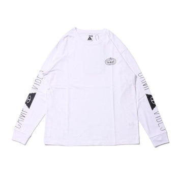 Poler Camp Vibes Long Sleeve Tee White