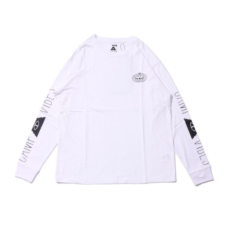 Camp Vibes Long Sleeve Tee-White