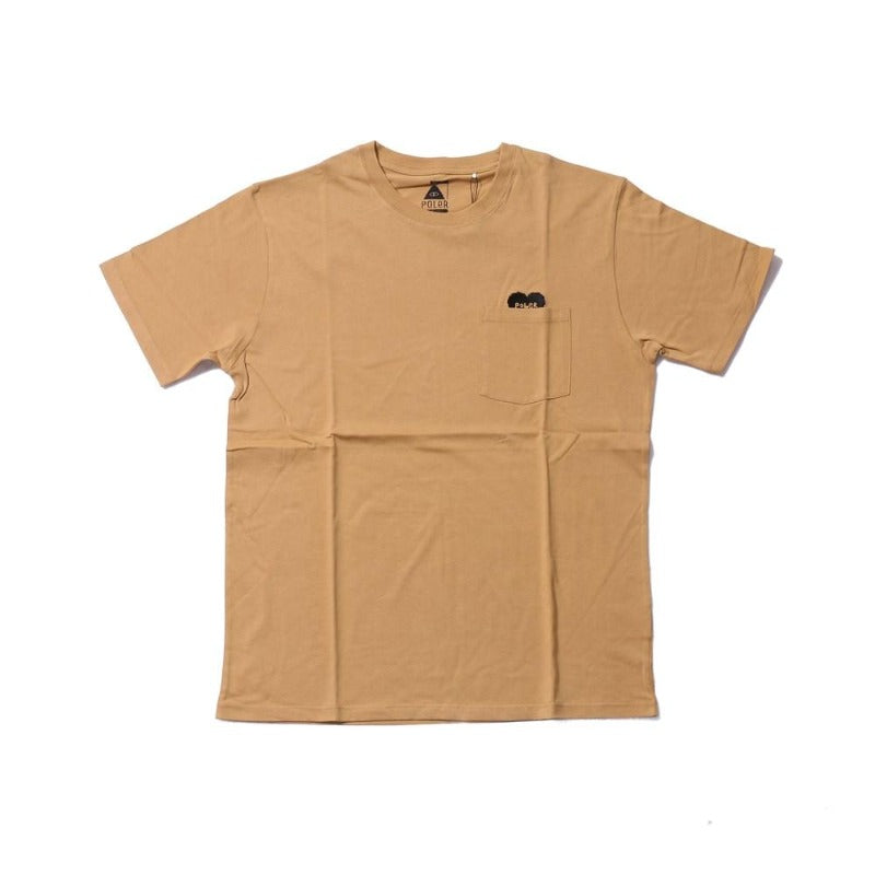 Poler Rising Heart Pocket Tee Beige
