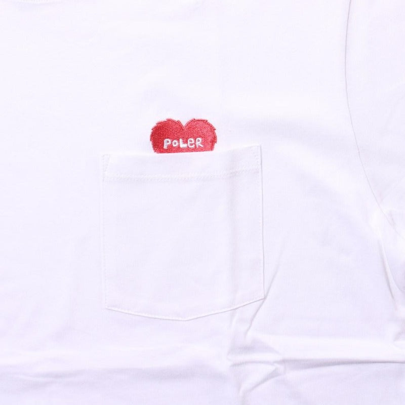 Rising Heart Pocket Tee-White