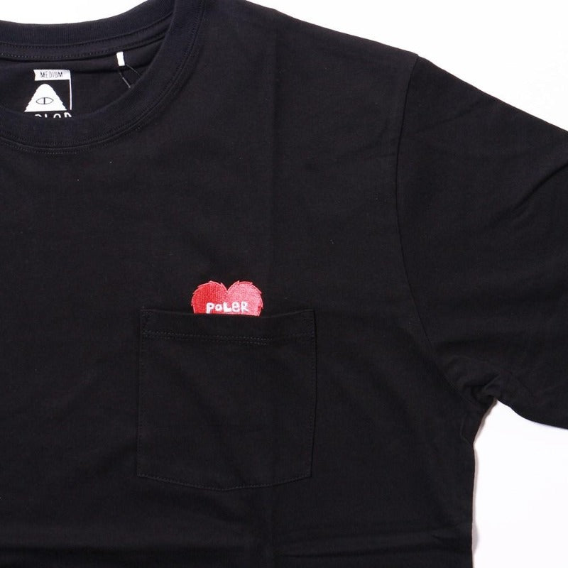 Rising Heart Pocket Tee-Black