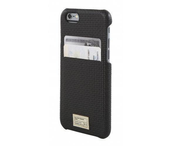 iPhone 6/6S Solo Wallet - Black Woven Leather