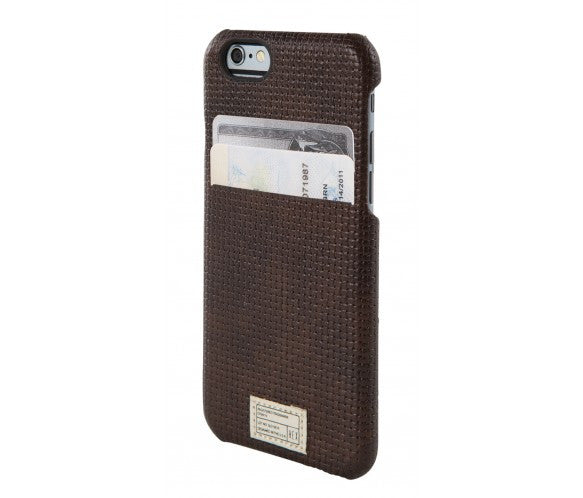 iPhone 6/6S Solo Wallet - Brown Woven Leather