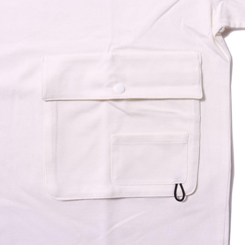 Poler Summit Heavy Weight Double Pocket Tee White