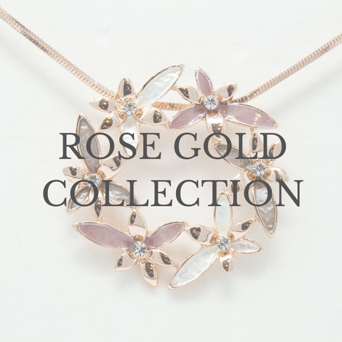 Rose gold jewellery collection