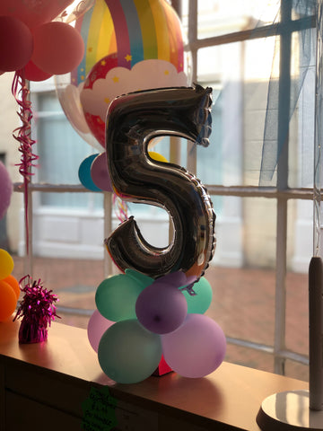 number table tower balloon