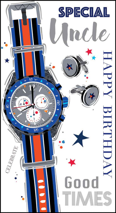Uncle Birthday Watch Card