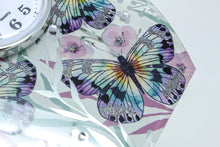 Load image into Gallery viewer, Butterfly & floral clock