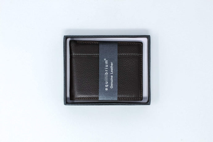 Plain brown leather wallet