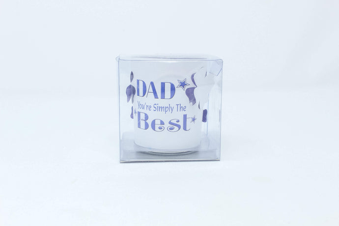 'Dad you're simply the best' tea-light candleholder