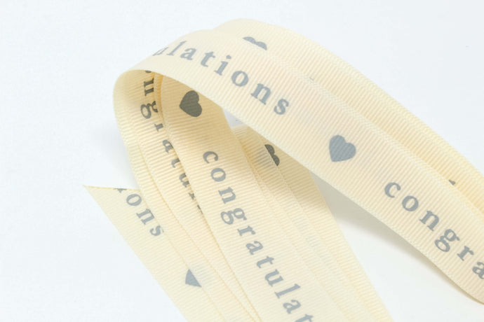 Congratulations with love heart ribbon