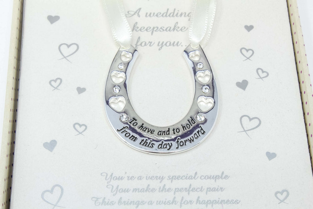 Equilibrium gift. Wedding horseshoe keepsake