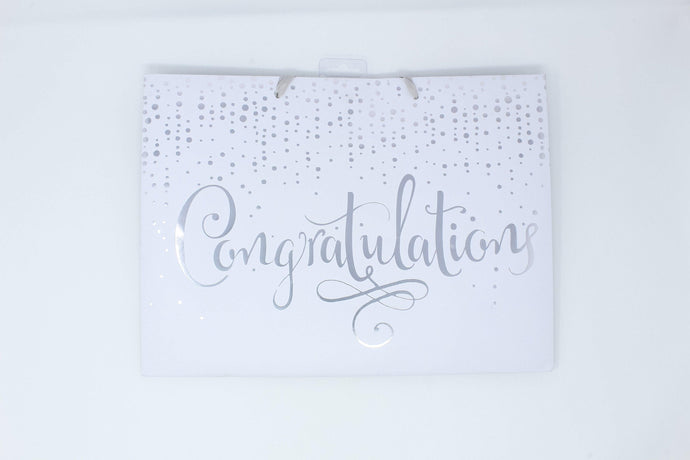 'Congratulations' gift bag