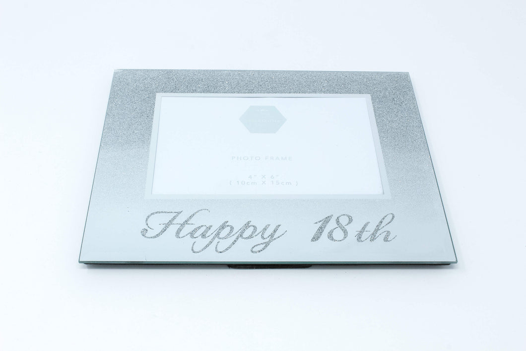 18th Silver mirrored photo frame