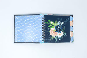 Midnight blue floral address book